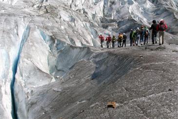 2Mit uns unterwegs in der Natur: Z.B. auf einer Gletschertour